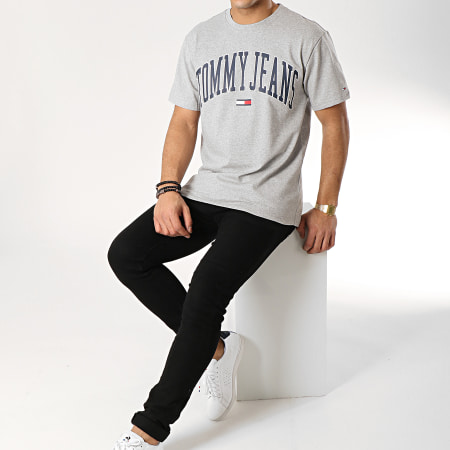 Tommy Hilfiger Jeans - Tee Shirt Collegiate Logo 5569 Gris Chiné