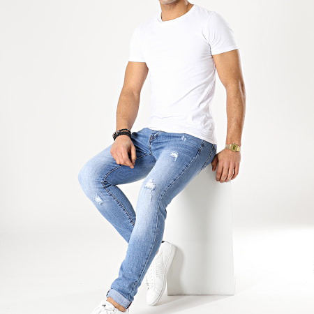 Aarhon - Jean Slim A136 Bleu Denim