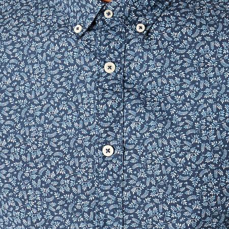 Celio - Chemise Manches Longues Floral Naprin Bleu Marine