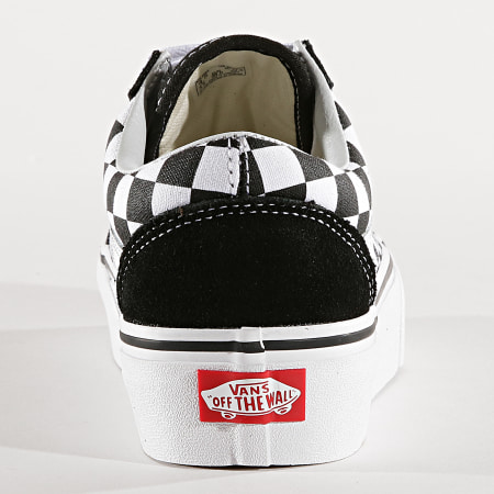 Vans Baskets Femme Old Skool Platform 3B3U Black White