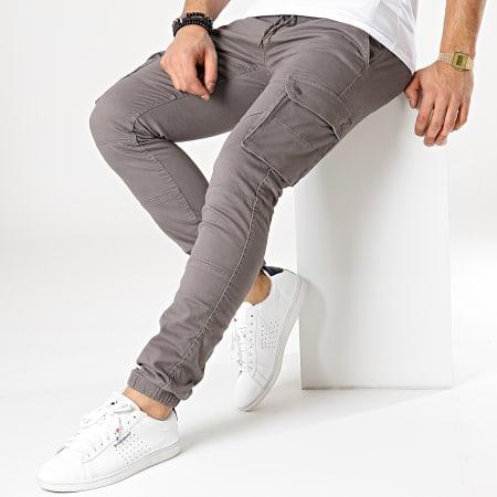 Celio - Pantalon Cargo Nolyte Gris