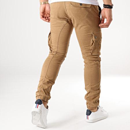Celio - Pantalon Cargo Nolyte Camel
