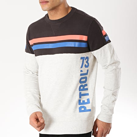 Petrol Industries - Sweat Crewneck SWR329 Gris Chiné Noir