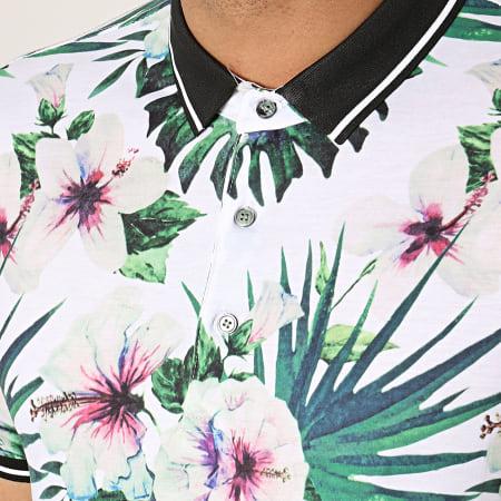 Frilivin - Polo Manches Courtes floral MP901 Blanc