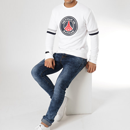 PSG - Sweat Crewneck Batman Neymar Jr Blanc