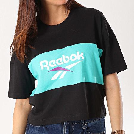 Reebok - Tee Shirt Crop Femme Classics Vector DX3811 Noir Vert