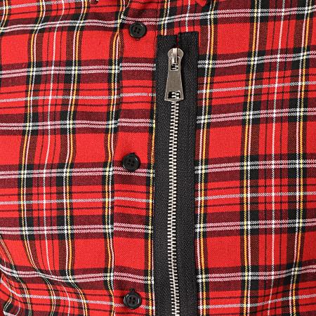 Uniplay - Chemise Manches Longues A Carreaux C002 Rouge Noir