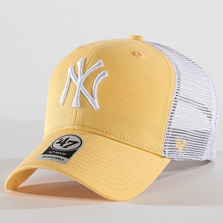 '47 Brand - Casquette Trucker New York Yankees MVP FLGSH17GWP Jaune Blanc