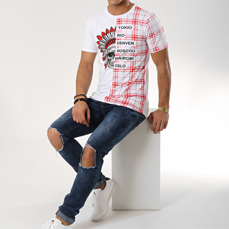 MTX - Tee Shirt Oversize FX191 Blanc Rouge
