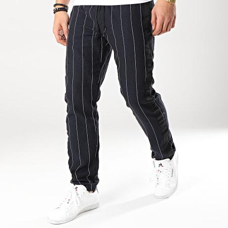 MTX - Pantalon Rayé Avec Bandes 5285E Bleu Marine