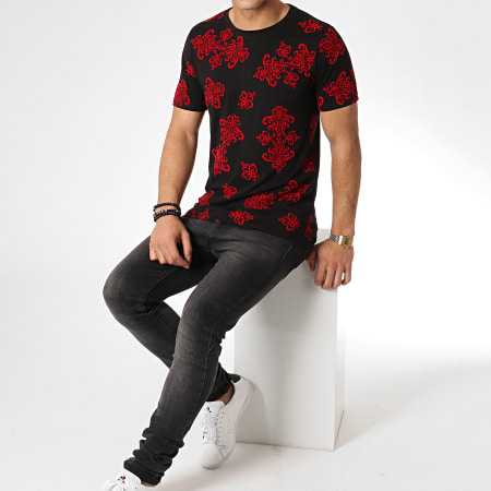 Berry Denim - Tee Shirt JAK-101 Noir Rouge Renaissance