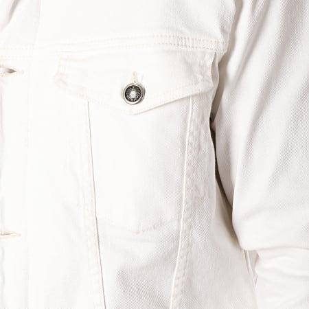 Classic Series - Veste Jean Col Mouton 6455 Blanc Beige