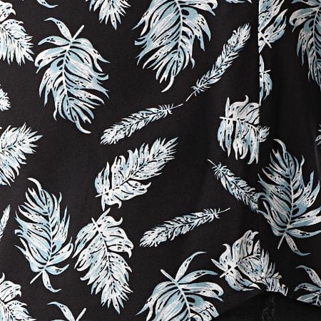 Frilivin - Chemise Manches Courtes BM1043 Noir Floral