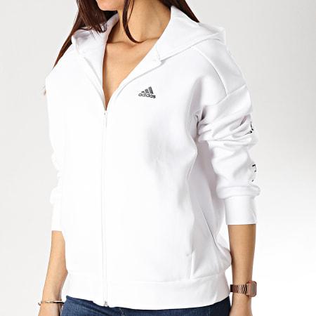 adidas Sweat Zippé Capuche Femme S2S DV0782 Blanc