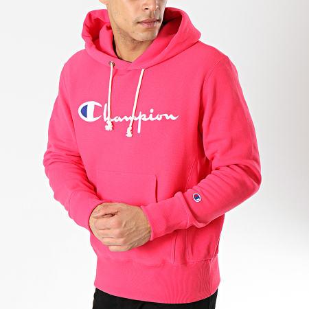 hoodie champion homme rose