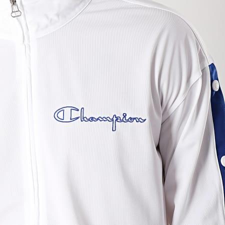 Champion - Veste Zippée 213046 Blanc Bleu Roi