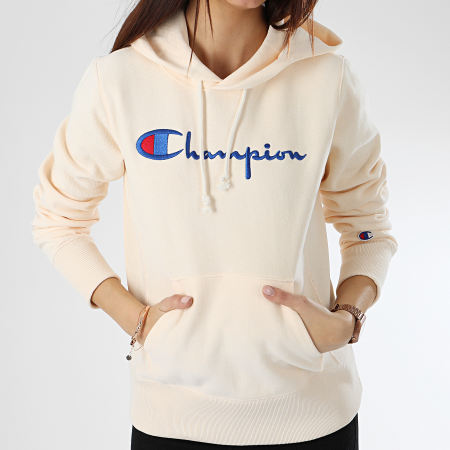 Champion - Sweat Capuche Femme 111555 Ecru