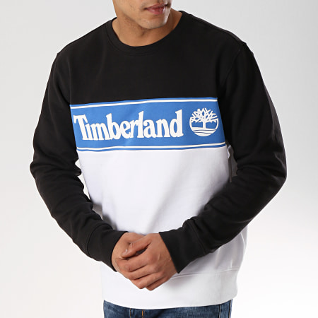 timberland bleu blanc