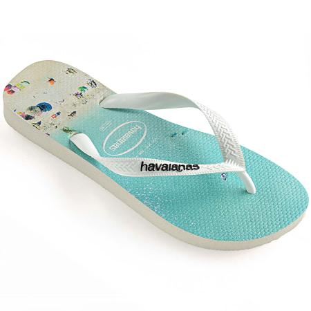 Havaianas - Tongs Hype 4127920 Bleu Clair Blanc