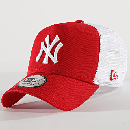 New Era - Casquette Trucker Clean New York Yankees 11588488 Rouge Blanc
