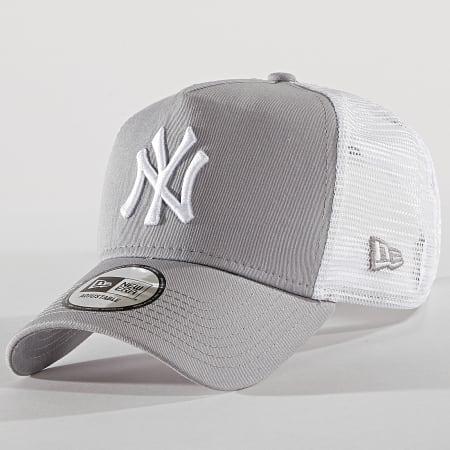 New Era - Casquette Trucker Clean New York Yankees 11588490 Gris Blanc