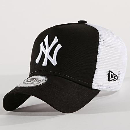 New Era - Casquette Trucker Clean New York Yankees 11588491 Noir Blanc