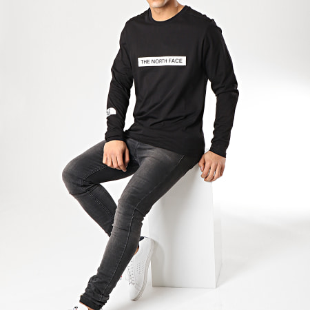 The North Face - Tee Shirt Manches Longues 3S3G Noir
