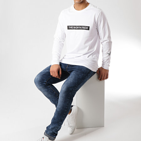 The North Face - Tee Shirt Manches Longues 3S3G Blanc