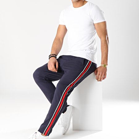 Jack And Jones - Pantalon Avec Bandes Vega Bleu Marine