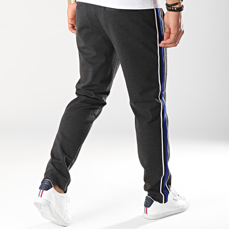Jack And Jones - Pantalon Avec Bandes Vega Gris Anthracite