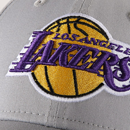 New Era - Casquette Fitted NBA Team 3930 los Angeles Lakers Gris