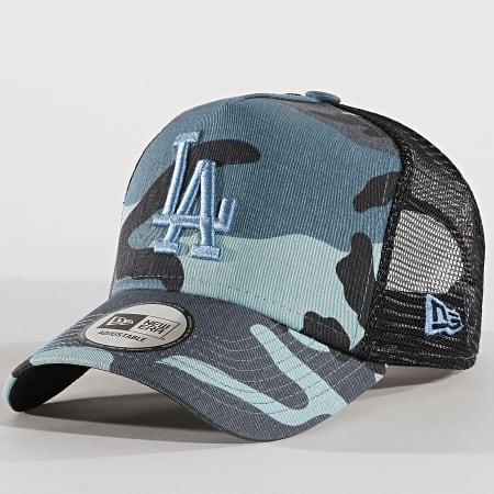 New Era - Casquette Trucker Camouflage Essential Los Angeles Dodgers Bleu Clair Bleu Marine Camouflage