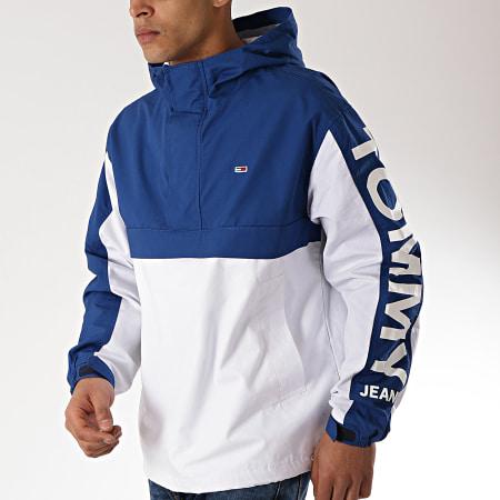 Tommy Hilfiger Jeans - Veste Outdoor Graphic Popover 5978 Blanc Bleu Roi