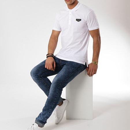 Antony Morato - Polo Manches Courtes Logo Basic Blanc