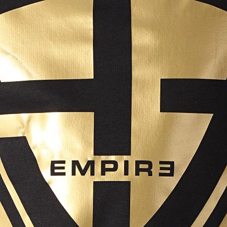 93 Empire - Sweat Crewneck 93 Square Noir Doré