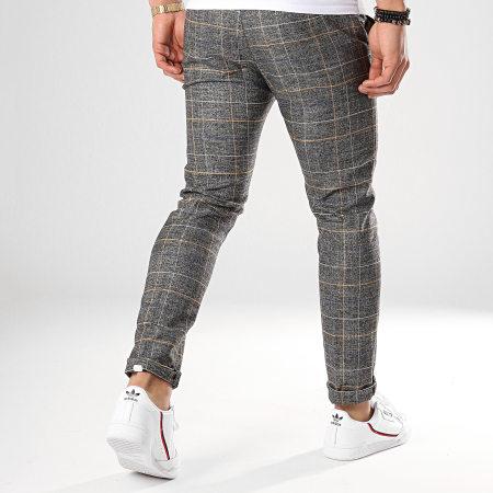 Classic Series - Pantalon Carreaux P191014 Gris Anthracite Chiné Beige