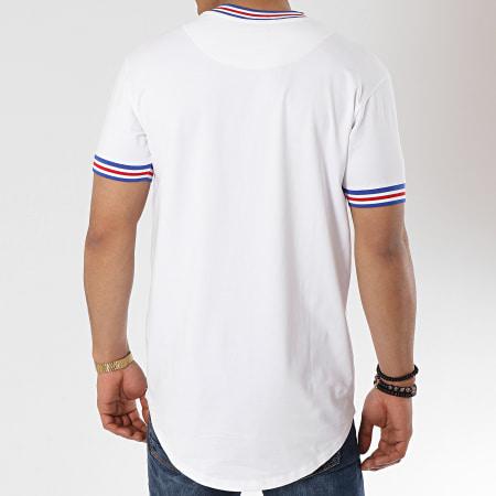 Gianni Kavanagh - Tee Shirt Oversize Personalized Rib Blanc Bleu Roi Rouge