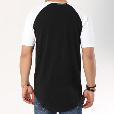 Gianni Kavanagh - Tee Shirt Oversize GK Gold Stripes Blanc Noir Doré