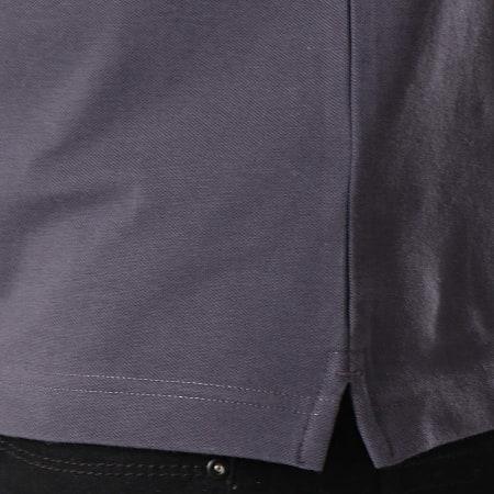 K-Way - Polo Manches Courtes Vincent Contrast Gris Anthracite