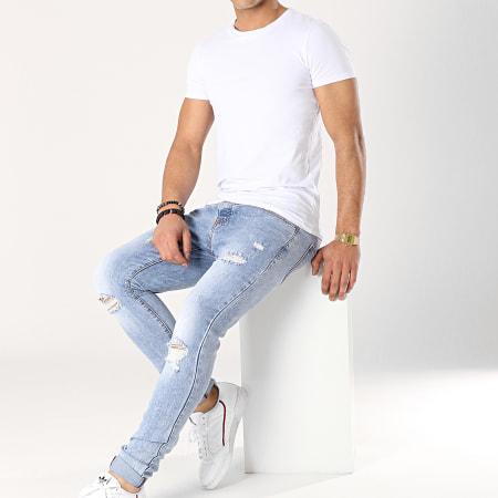 Aarhon - Jean Slim A126 Bleu Denim