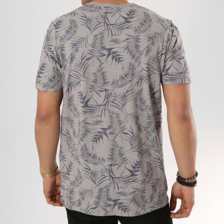 Jack And Jones - Tee Shirt Poche Sean Blu Gris Floral