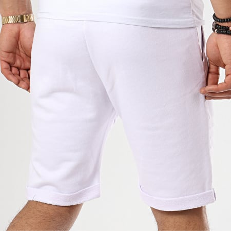 LBO - Short Jogging Avec Empiecements 648 Blanc