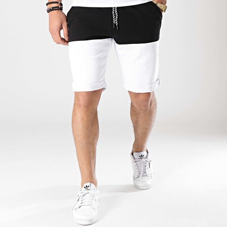 LBO - Short Jogging Bicolore 666 Noir Blanc
