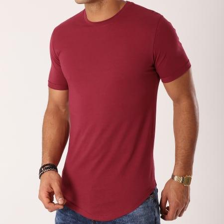 LBO - Lot de 2 Tee Shirts Oversize 715 Bordeaux Et Blanc