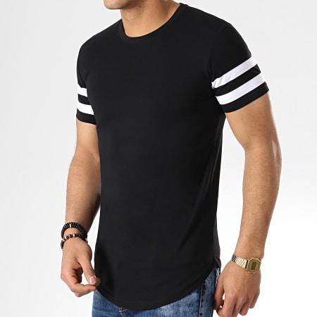 LBO - Lot de 2 Tee Shirts Oversize Avec Bandes 718 Noir Et Blanc