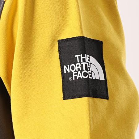 The North Face - Sweat Capuche Fine Box 3BNX Gris Anthracite Jaune