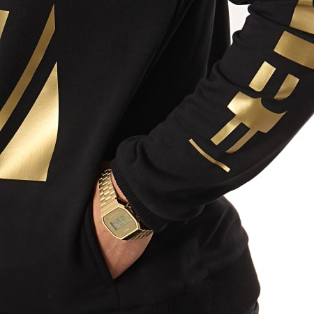 93 Empire - Sweat Capuche 93 Square Sleeves Noir Or
