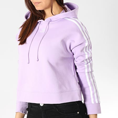 adidas originals sweat 3-stripes crop femme