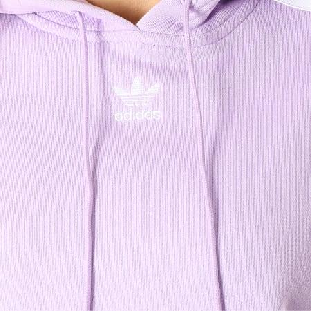 adidas Sweat Capuche Crop Femme DX2158 Lilas