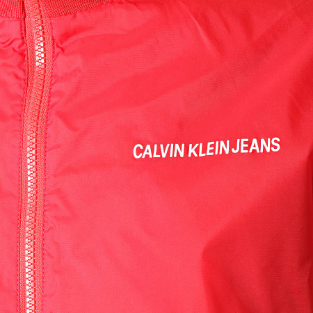 Calvin Klein - Coupe-Vent Side Logo 1446 Rouge